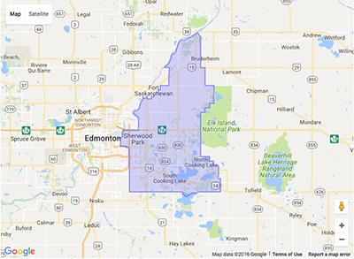 Surrounding Edmonton